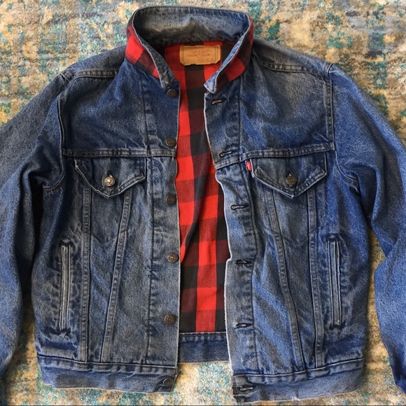 8f3b669ba5d Levi s Other - VINTAGE LEVI S men s flannel lined jean jacket